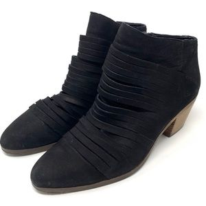 Lucky Brand Zavrina Black Suede Cutout Booties 10